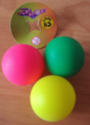neon 3pk replacement beach bat balls new - sold loose various colours