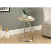 Monarch Reclaimed-Look/Chrome Metal Accent Table, 90cm , Natural