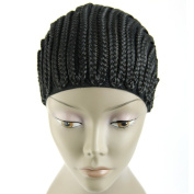 MsFenda 3pcs/lot Cornrows cap for easier sew in,braided wig caps crotchet black colour spider braiding wig cap weaving cap with braids