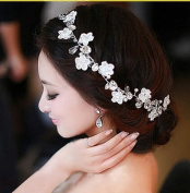 Crystal Diamond Bride Bridal Wedding Hair Head Band Wear Pearl Rhinestone Jewellery Headdress Headband Tiara Coronal Chain