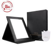 DUcare(TM) Black Folding Cosmetics Mirror, Professional Portable Multi-used Makeup Mirror with Leather Case