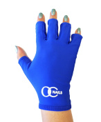 OC Nails UV Shield Glove (BLUE) Anti UV Glove for Gel Manicures with UV/LED Lamps