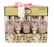 Hydrangea Peony Opaline Luxury Bath Spa Gift Set - Shower Gel, Foam Bath, Bubble Bath, Hand Cream, Body Wash