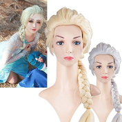 Princess Girl's Cosplay Long Blonde Braids Design Cosplay Wig Wigs 2 Colour CaF8