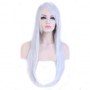 "Heat Resistant Synthetic Wig Japanese Kanekalon Fibre 10 Colours Full Wig with Bangs Long Straight Full Head for Women Girls Lady Fashion and Beauty 23"" / 58cm"