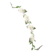 Icing Ivory Flowers on a Vine Decorative Hair Swag