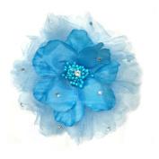 Romantic & Elegant Flowers Hair Clip/brooch, Fabric Hair Flowers w/ Lace & Rhinestones