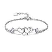 Classy Contracted Two Hearts Forever Together Meaningful Bracelet