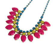 Crystal Women Rainbow Colourful Necklace Chain Jewellery