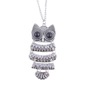 Best Gift For Women Vintage Silver Owl Pendant Necklace