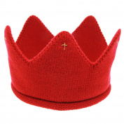 Fullkang New Cute Baby Boys Girls Crown Woollen Yarn Knit Headband Hat