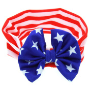 Fullkang Cute Baby American Flag Pattern Elastic Cloth Headband