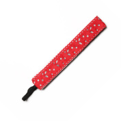 BANDED Red Silver Cutout 2.5cm Headband