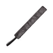BANDED Black Silver Metallic 2.5cm Headband