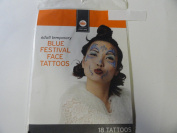 Adult Temporary Blue Festival Face Tattoos