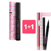 Rivecowe 1+1. Plenty Volume Mascara + Flexible Liquid Brushpen Eyelinger/Black/Korea Cosmetic