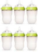 Comotomo Natural Feel 240ml Bottle 6 Pack - Green