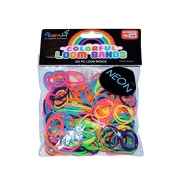 ASAH Colour Loom Bands 300pce + 16 S Clips - Neon
