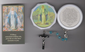 Our Lady of Grace Turquoise Rosary with Case and Holy Card