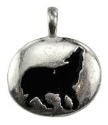 Azuregreen Wolf Totem Spiritual Amulet Pendant