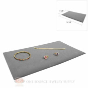 (1) Grey Plush Soft Velvet Jewellery Display Counter Display Pads Tray Liners