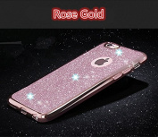 iPhone SE case,Inspirationc® Beauty Luxury Diamond Soft TPU Anti Scratch Protective Case Cover Skin Bumper with Electroplating Frame for iPhone SE/5S/5--Rose Gold