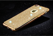 iPhone SE case,Inspirationc® Beauty Luxury Diamond Soft TPU Anti Scratch Protective Case Cover Skin Bumper with Electroplating Frame for iPhone SE/5S/5--Gold