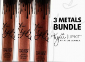 Kylie Lip Kit by Kylie Jenner 3 Metals Bundle