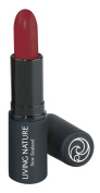 Living Nature Lipstick, Matte Red, Crimson Undertone. Natural, Organic, Gluten Free, Long Lasting