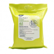 (2-Pack) Almay Clear Complexion 4-in-1 Makeup Remover 25 count each