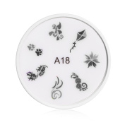 Apharsec Nail Stamp Complete All in One A18 Design