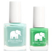 ella+mila Nail Polish, mommy & me® set - Don't be Blue + Tropical Jungle