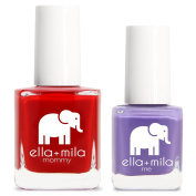 ella+mila Nail Polish, mommy & me® set - Paint the Town Red + Mila's Fave