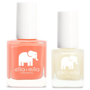 ella+mila Nail Polish, mommy & me® set - Sunkissed + Dipped in Gold