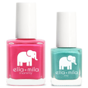 ella+mila Nail Polish, mommy & me® set - Cosmo Pink + Glitter me Green