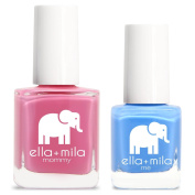 ella+mila Nail Polish, mommy & me® set - Rosy Cheeks + My Pool Party