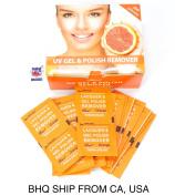 200pcs Nail Art Soak Off Nail Polish UV Gel Remover Wraps Pads Wipes Orange