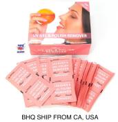 200pcs Nail Art Soak Off Nail Polish UV Gel Remover Wraps Pads Wipes Peach