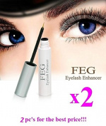 2 X BEST FEG Eyelash enhancer. The most powerful eyelash growth Serum 100% Natural. Promote rapid growth of eyelashes. 100% Original with Anti-Fake sticker!!!