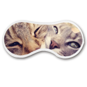 Promini Love Cat Sleep Mask with Strap Lightweight Comfortable Eye Mask for Bedtime or Relaxation, Travel, Shift Work, Meditation