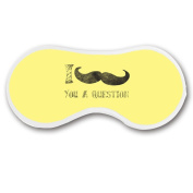 Promini I Moustache You a Question Sleep Mask with Strap Lightweight Comfortable Eye Mask for Bedtime or Relaxation, Travel, Shift Work, Meditation