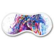 Promini Fantastic Unicorn Sleep Mask with Strap Lightweight Comfortable Eye Mask for Bedtime or Relaxation, Travel, Shift Work, Meditation
