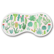 Promini Cactus Plants Sleep Mask with Strap Lightweight Comfortable Eye Mask for Bedtime or Relaxation, Travel, Shift Work, Meditation