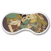 Promini Strange Monsters Sleep Mask with Strap Lightweight Comfortable Eye Mask for Bedtime or Relaxation, Travel, Shift Work, Meditation