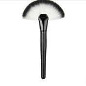 Tmalltide 1 Pcs Pro Soft Perfecting Face Cheek Foundation Brushes Blend Flat Big Fan Makeup Tool
