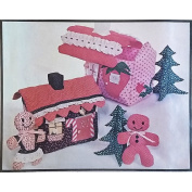 Gingerbread Strawberry House Soft Sculpture Pattern Vintage