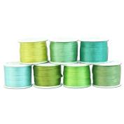 4mm Silk Ribbon Set - Seven 10 metre spools - 77 yds - Oceanview Colours - Threadart