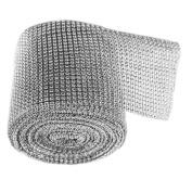 Tobson Newest 24Rows 3MM Diamond Rhinestone Ribbon Wrap Bulk by 1Roll-Wedding Decorations, Party Supplies
