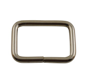 Amanaote Silvery 2.5cm x 1.7cm Inner Dimension Non Welded Rectangle Buckle for Strap Pack of 10
