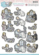 Find It Trading SB10030 Yvonne Creations Smiles & Hugs Christening Punchout Sheet, Multicolor